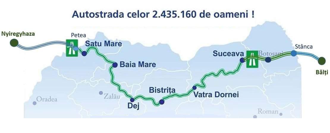 Noutăți despre Autostrada Nordului, care va străbate și Clujul  |Autostrada Nordului